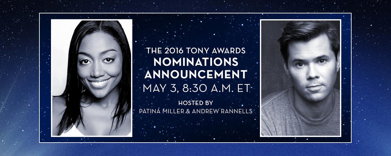 Genomineerden Tony Awards worden op 3 mei aangekondigd