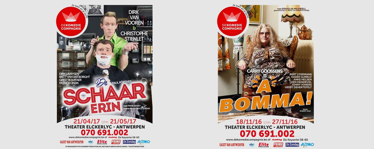 De Komedie Compagnie brengt volgend seizoen A Bomma! en De Schaar Erin in Theater Elckerlyc