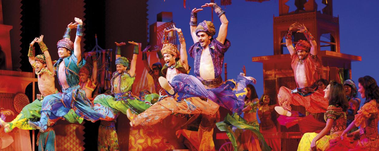De première van Aladdin op West End