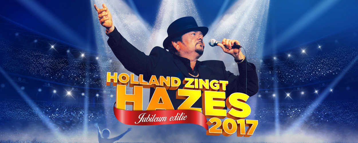Hologram André Hazes op podium Holland Zingt Hazes in de Ziggo Dome