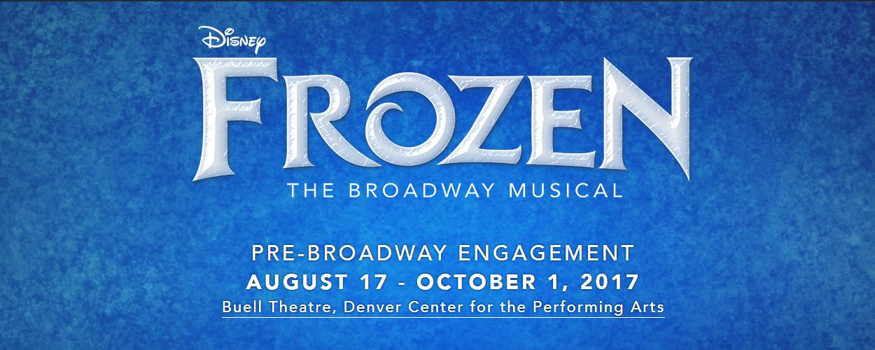 Frozen the Musical vanaf 17 augustus volgend jaar te zien in Denver
