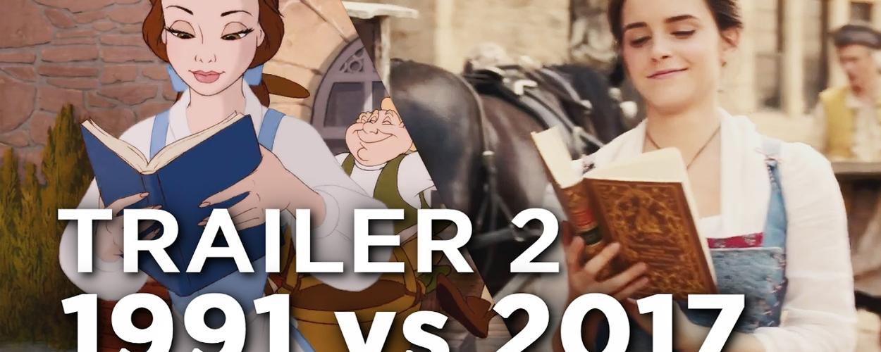 Nieuwe trailer Beauty and the Beast naast originele trailer uit 1991 gelegd
