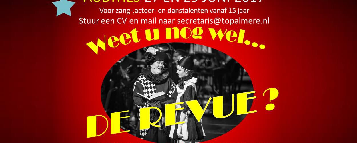 Audities: TOP-Almere zoekt mannen en vrouwen voor 'Weet u nog wel…de Revue?'