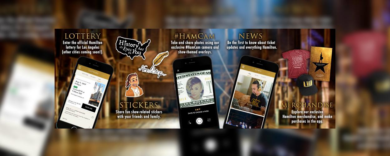 Een speciale app voor Hamilton, voor iOS en Android
