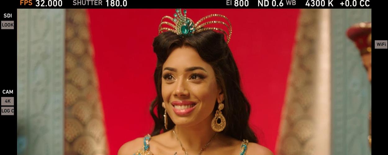 Achter de schermen bij opname commercial Aladdin