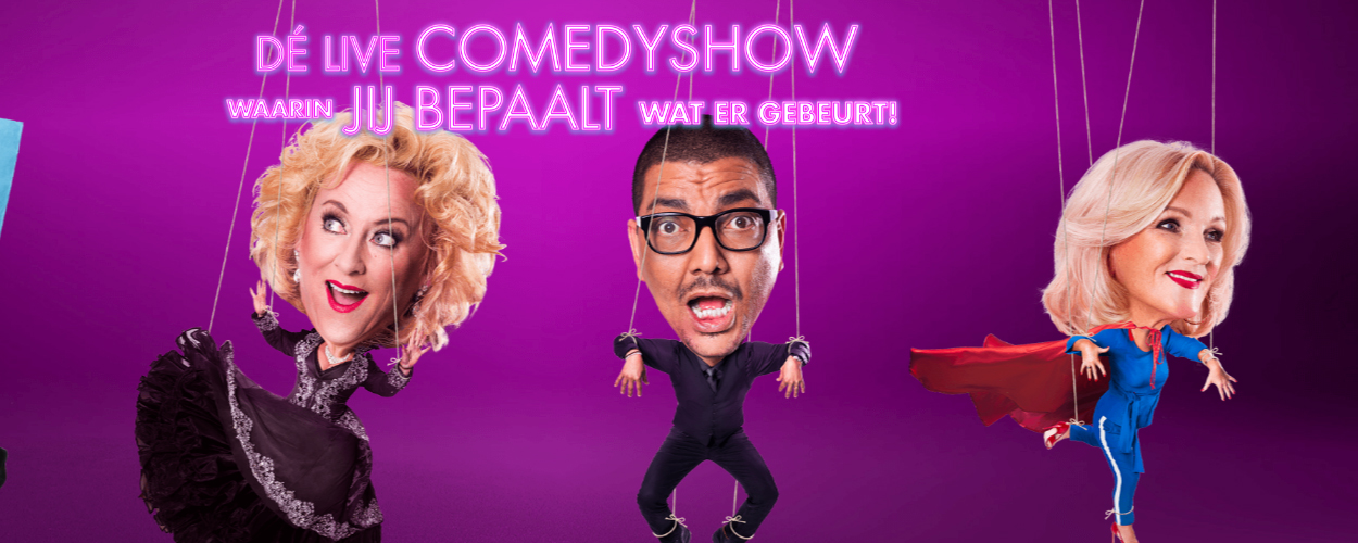 Line-up comedy concert All Mixed Up compleet