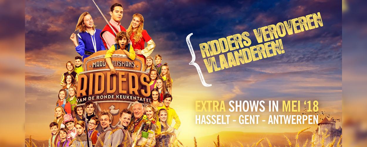 Ridders van de ronde keukentafel terug in Vlaanderen in 2018