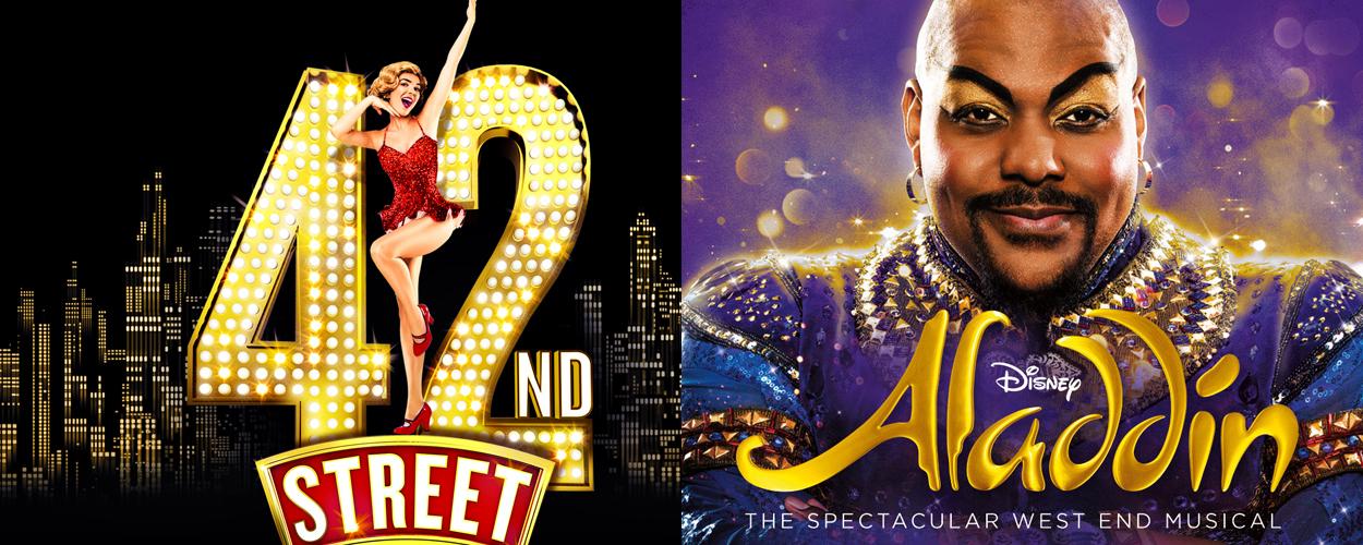 Nieuwe commercials voor 42nd Street en Aladdin op West End