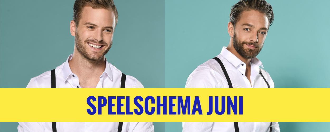 Speelschem Jim Bakkum en Tommie Christiaan in On Your Feet! voor juni