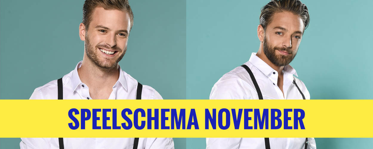 Speelschema Jim Bakkum en Tommie Christiaan in On Your Feet! voor november