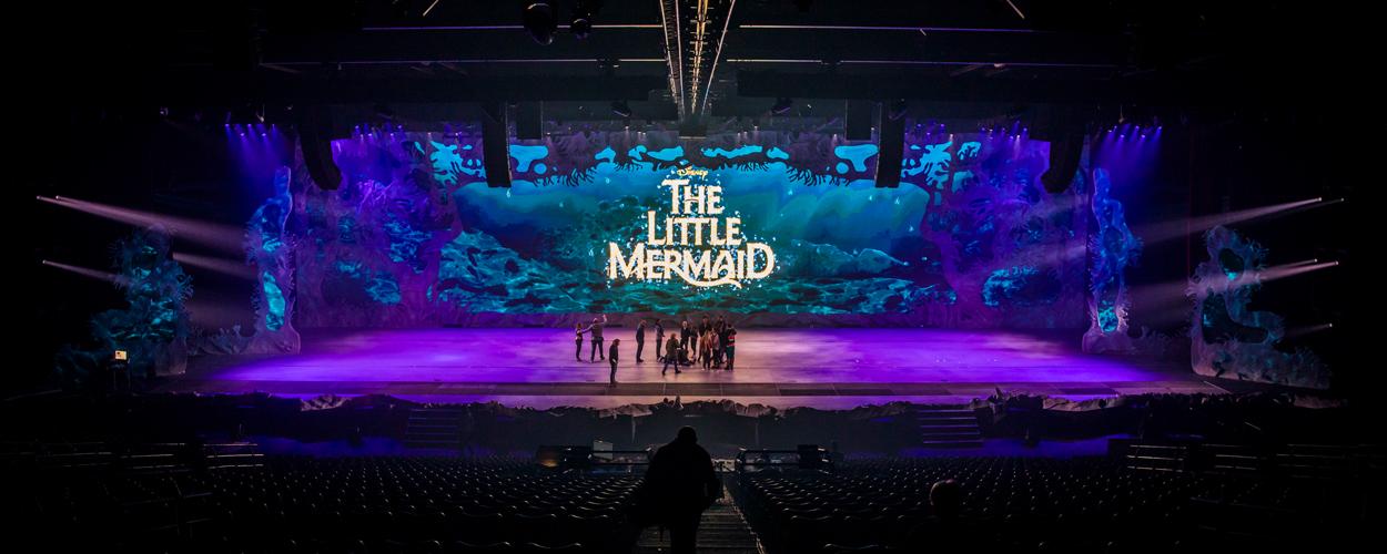 The Little Mermaid pakt uit met groot led-achtergrondscherm