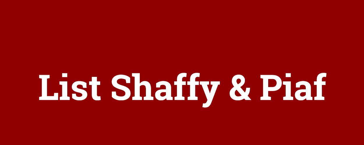 List Shaffy & Piaf