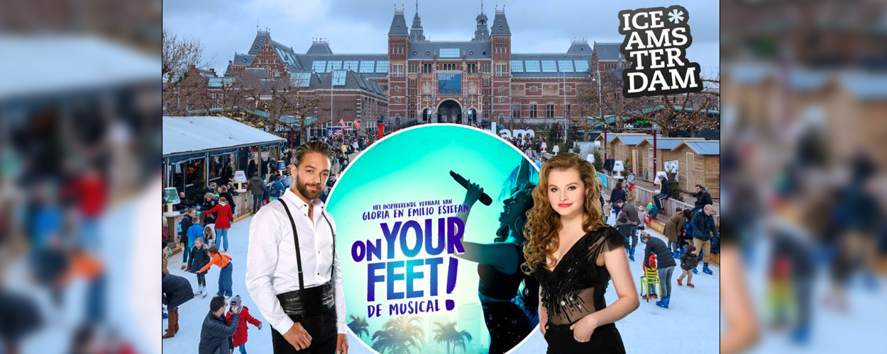 Zondag wereldrecord Conga line on Ice met castleden On Your Feet!