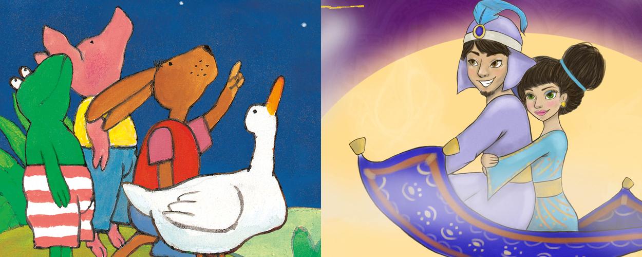 Kikker en de Vallende Ster en Aladdin van Theater Terra