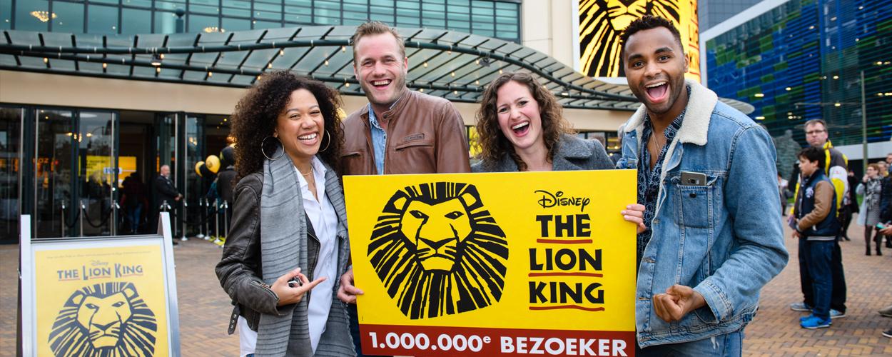 1 miljoen bezoekers voor The Lion King, verlenging tot en met september