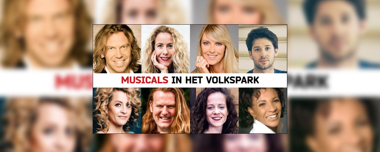 Musicalspektakel in het Volkspark in Enschede