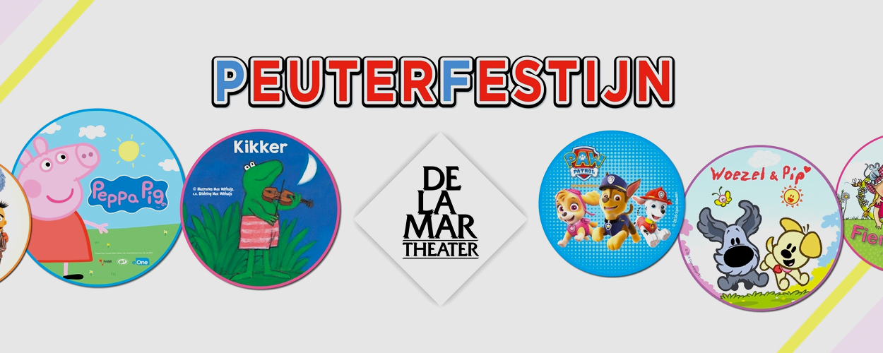 DeLaMar Peuterfestijn met Woezel & Pip, Peppa Pig, Kikker en anderen