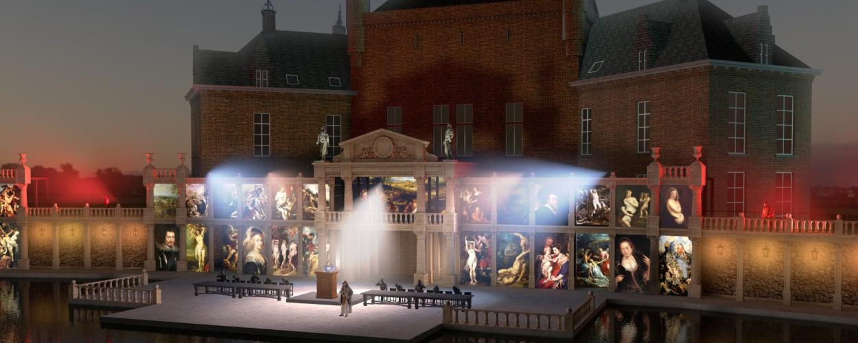 Grootste drijvend decor van België voor musical Rubens van Historalia