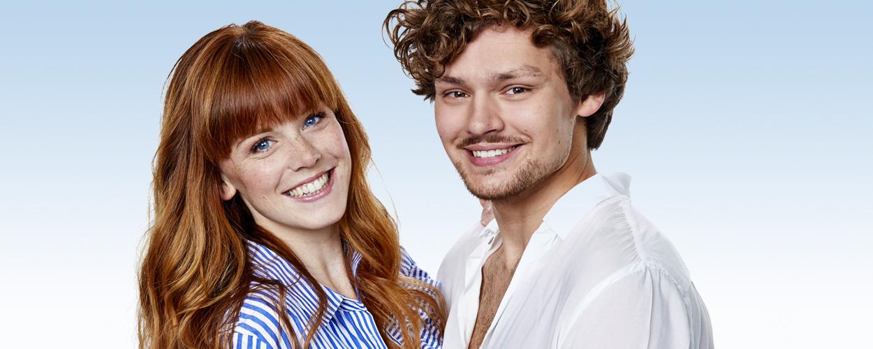 Jolijn Henneman en Soy Kroon als Sophie en Sky in Mamma Mia!