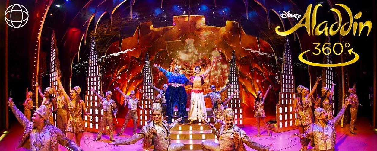 360 graden video van Friend Like Me uit Aladdin op Broadway