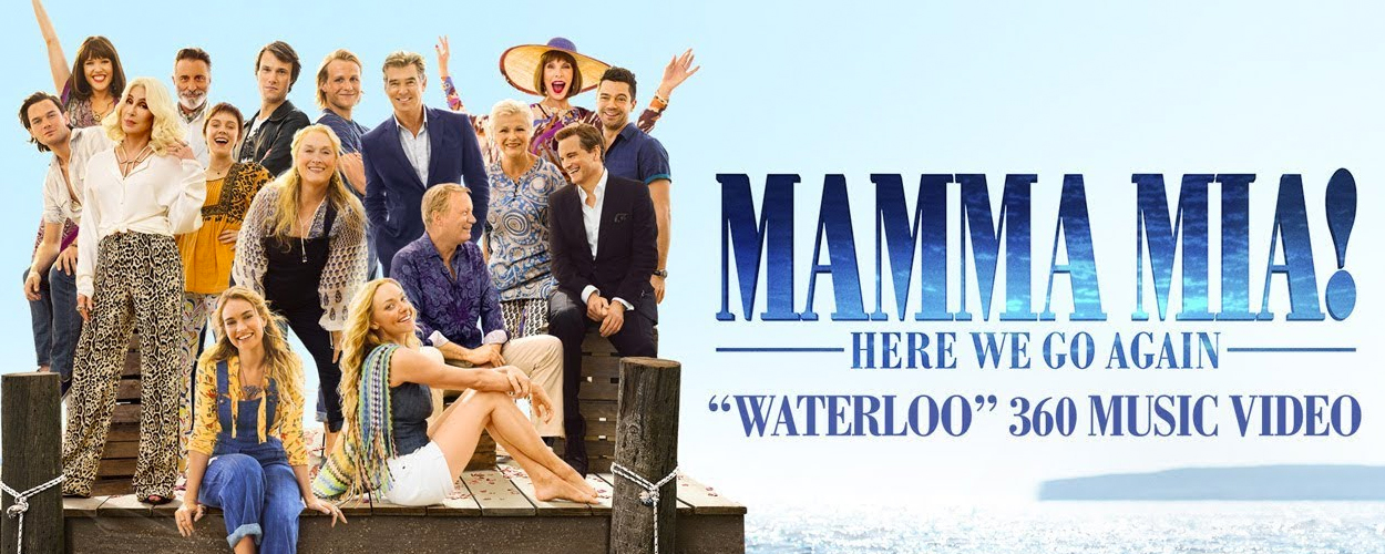 360 graden video van Waterloo uit Mamma Mia! Here We Go Again