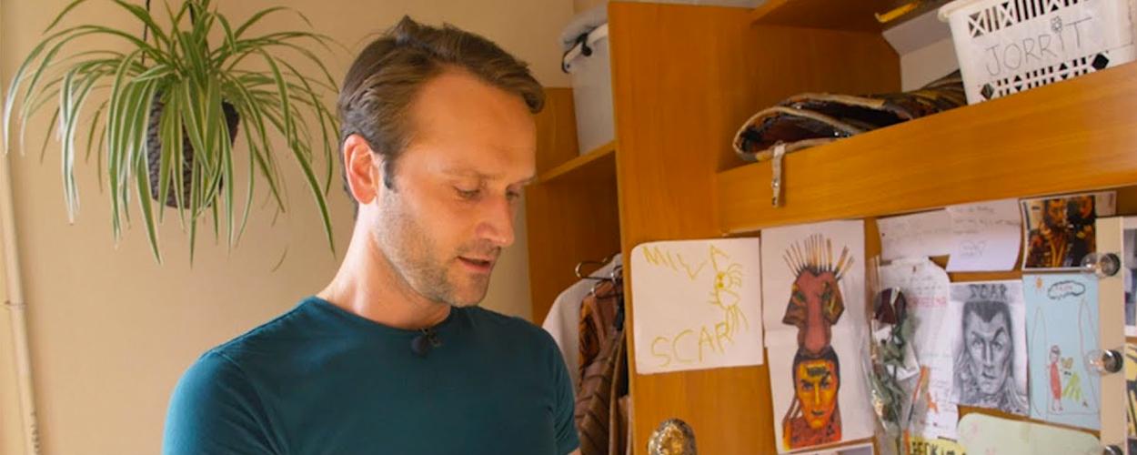 De kleedkamer van Jorrit Ruijs bij The Lion King