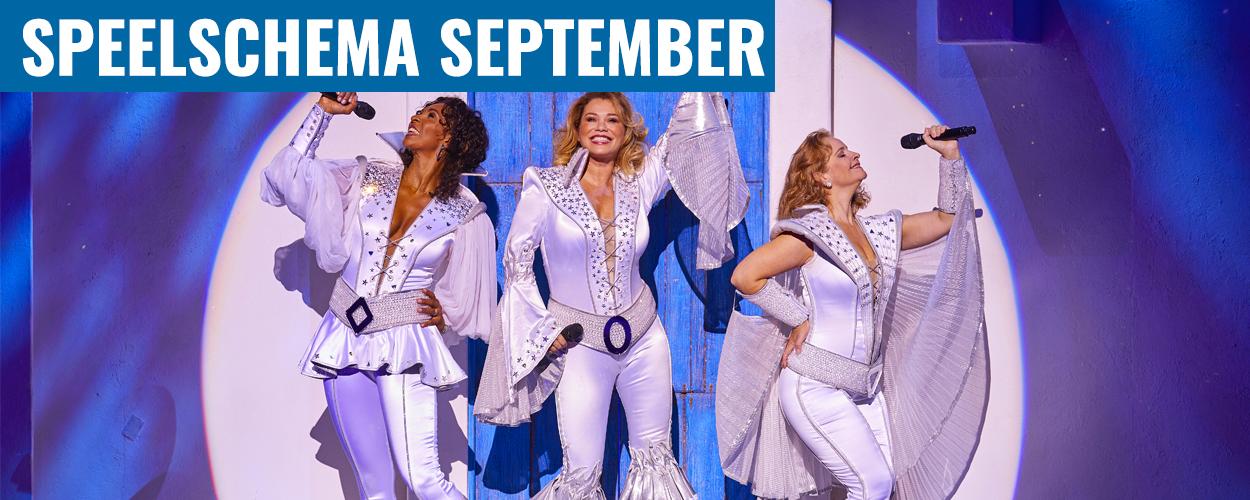 Speelschema Antje Monteiro en Nurlaila Karim in Mamma Mia! voor september