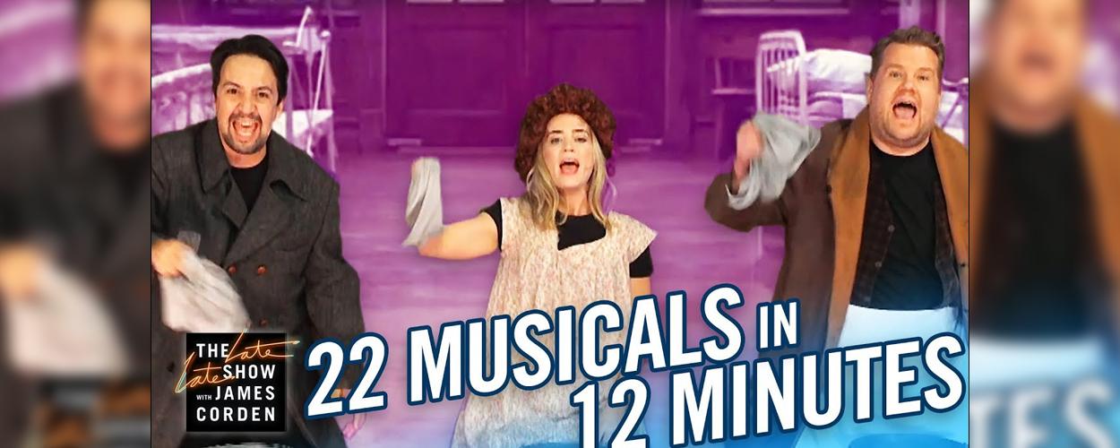 22 musicals met James Cordon, Lin Manuel Miranda en Emily Blunt