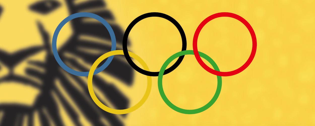 Olympische Winterspelen met castleden The Lion King