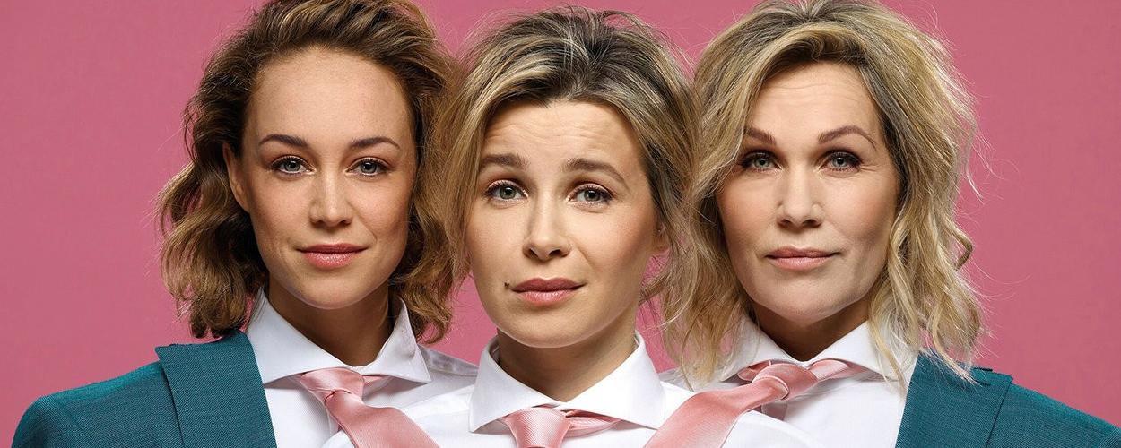 Victoria Koblenko, Anouk Maas en Tanja Jess samen theater in