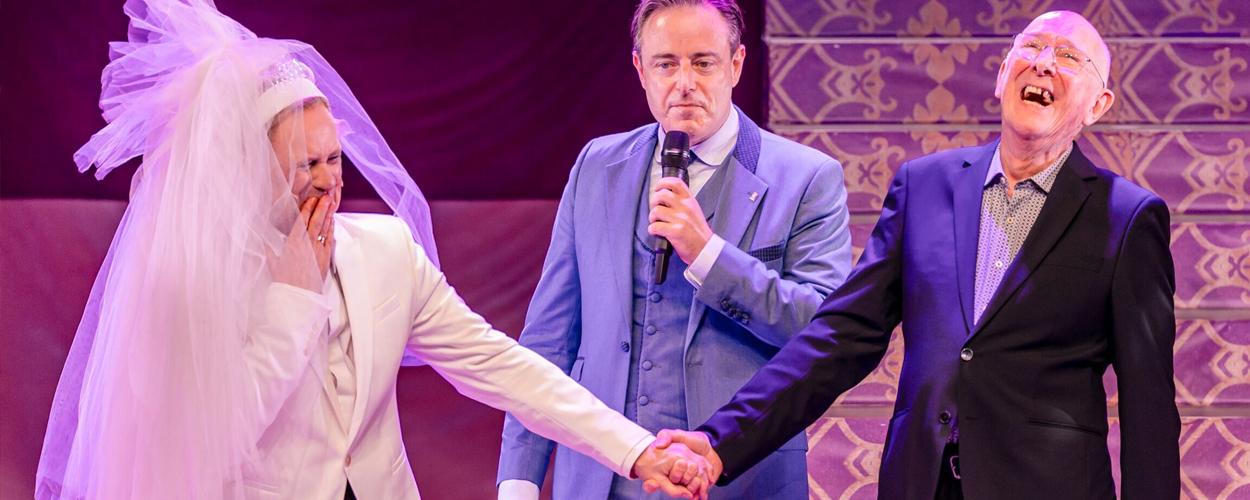 Bruid Koen Crucke verrast echtgenoot na afloop La Cage aux Folles