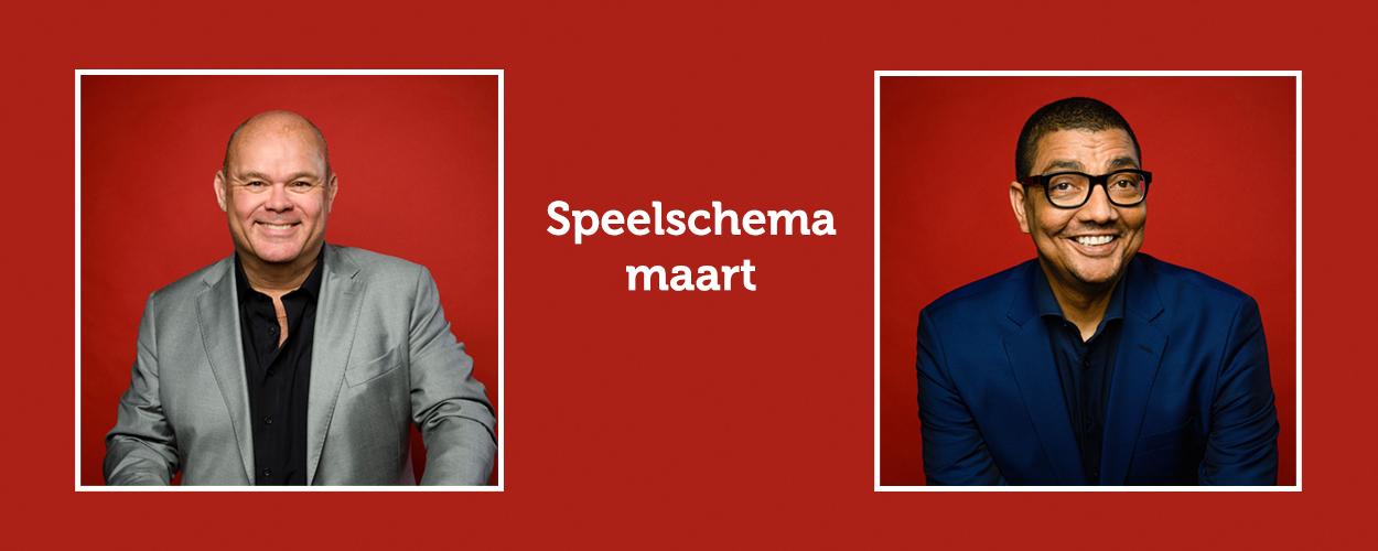 Speelschema Paul de Leeuw en Jörgen Raymann in Hello Dolly! voor maart