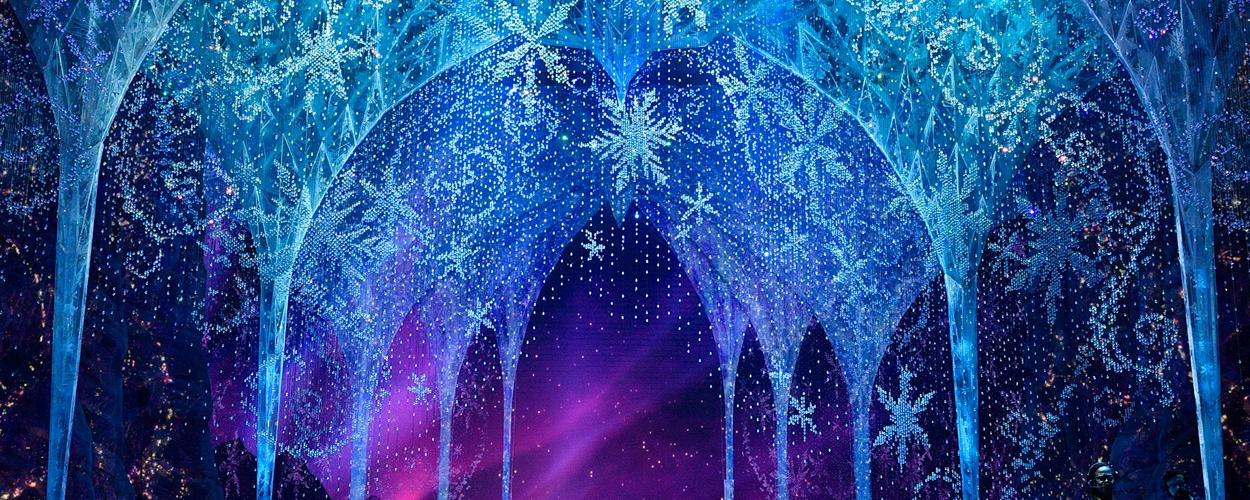 Frozen plaatst achtergronden voor Zoom online