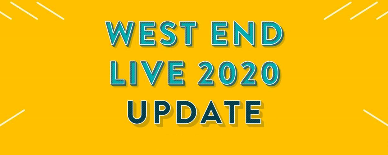 West End Live 2020 voorlopig uitgesteld