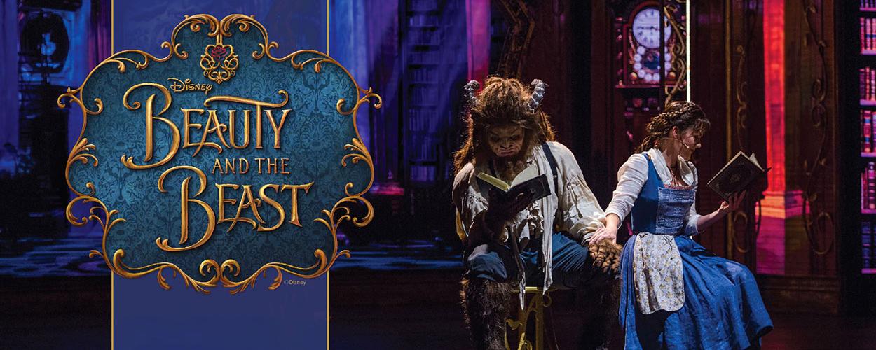Scenes uit Beauty and the Beast van de Disney Cruise Line