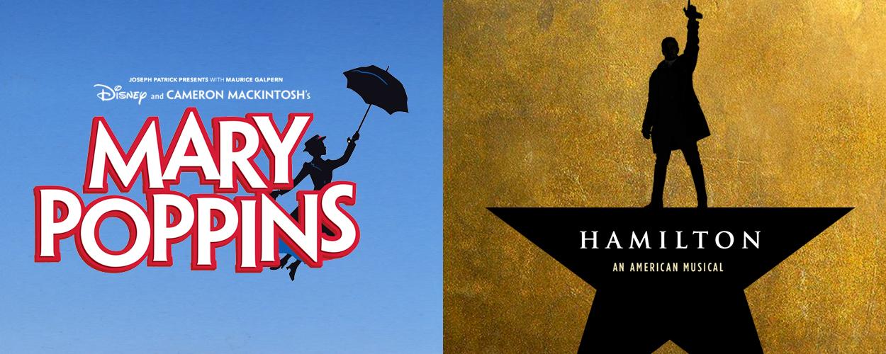 Mary Poppins en Hamilton keren in augustus terug op West End