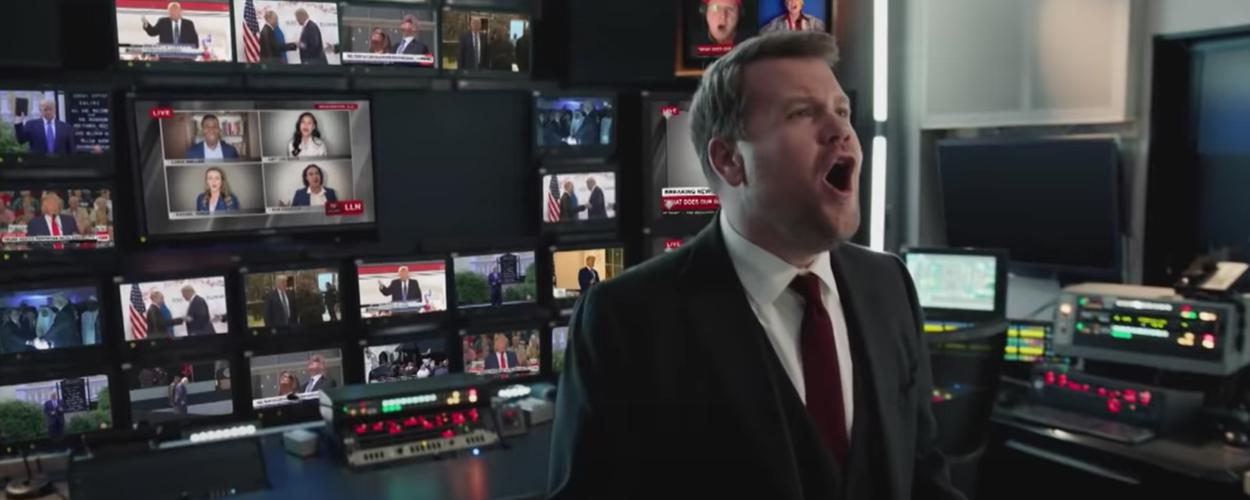 James Corden zegt president Trump vaarwel met Les Misérables parodie