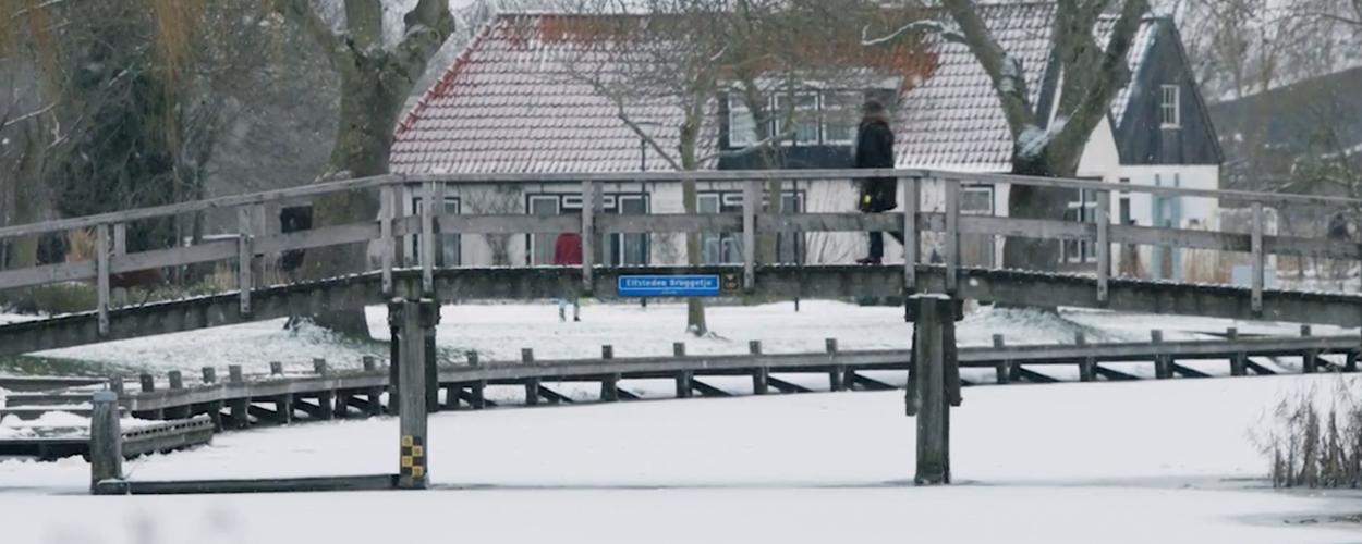 Spektakelmusical De Tocht op zoek naar winterse foto's van Elfstedenroute