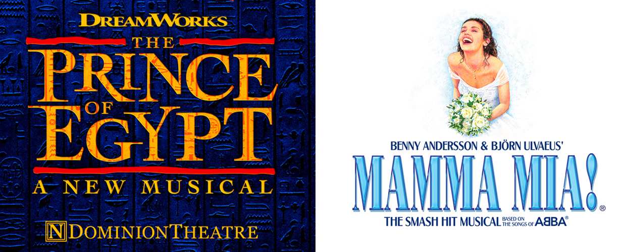 The Prince of Egypt en Mamma Mia! later dit jaar terug op West End