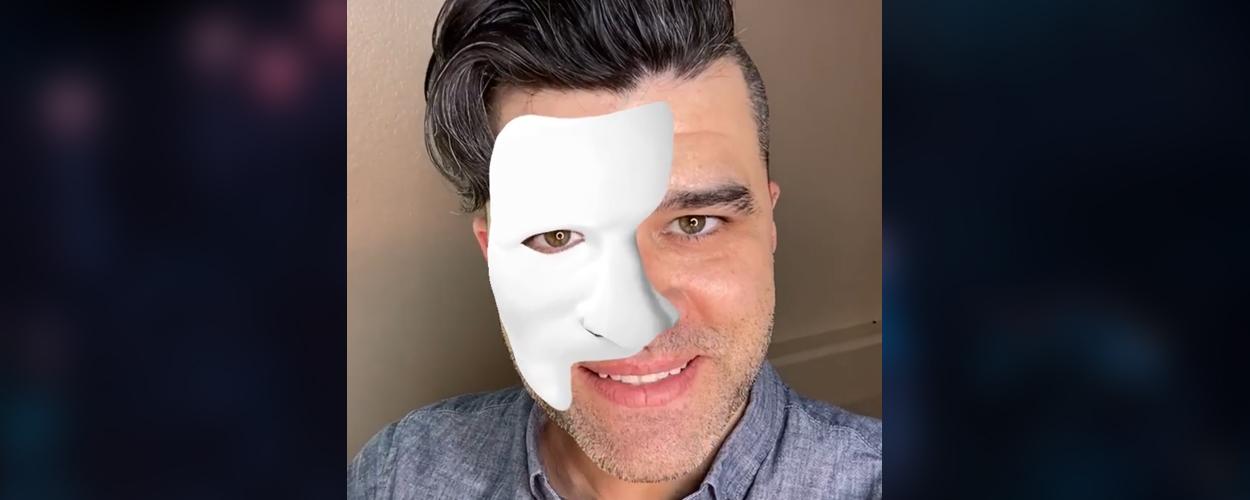 Nieuwe Instagram-filter van The Phantom of the Opera