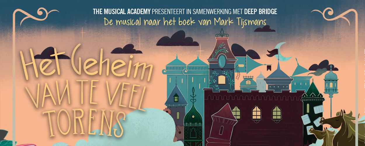 The Musical Academy speelt vanaf 25 augustus Het Geheim van Te Veel Torens in Antwerpen