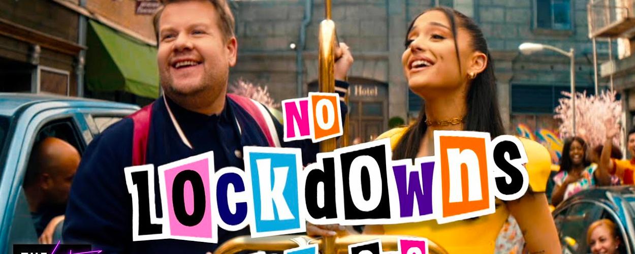 James Corden viert het einde van de lockdown met nummer geïnspireerd op Hairspray