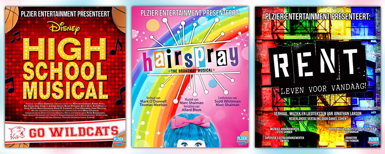 Audities: RENT, High School Musical en Hairspray in Hilversum